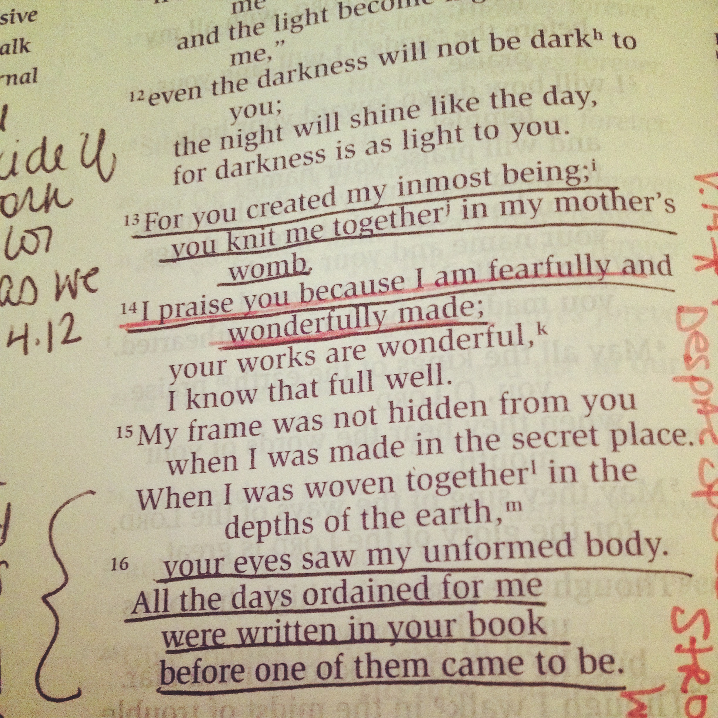 A Different Prayer {Lessons from Psalm 139}
